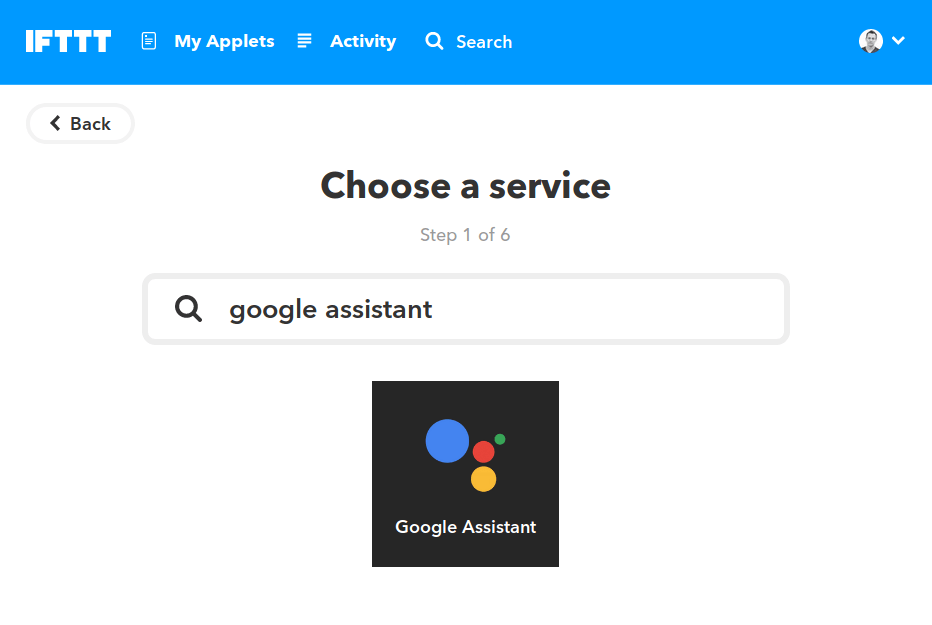 IFTTT Google Assistant