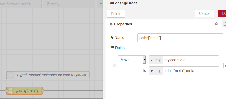Get paths meta object